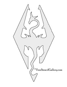 skyrim symbol outline clipart #17