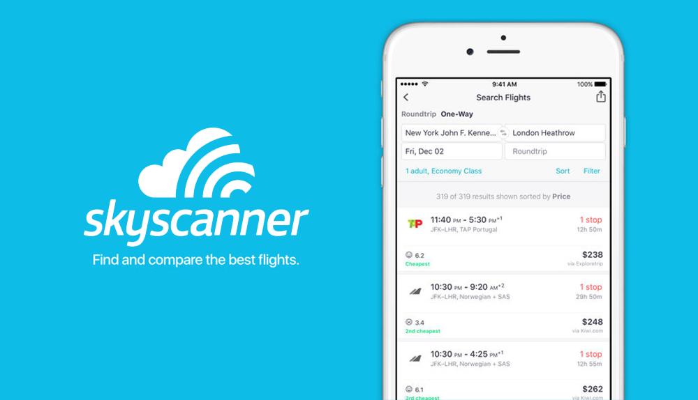 Skyscanner: Choosing the best travel dates.
