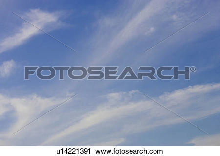 Stock Photography of Skyscape with wispy clouds, North Dumfries.