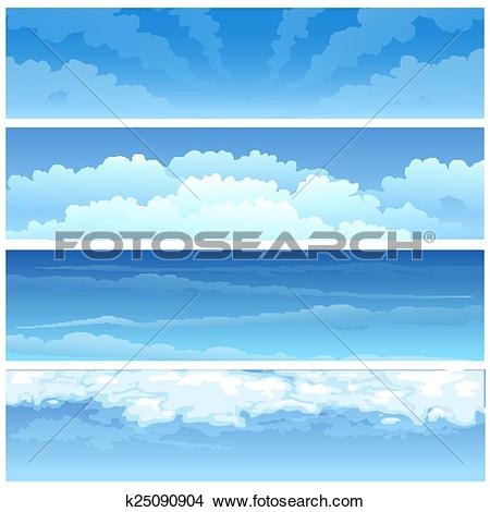 Clipart of Skyscape set k25090904.