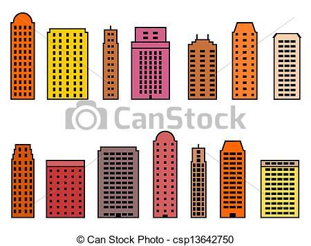 Vector Clipart of Modern city.
