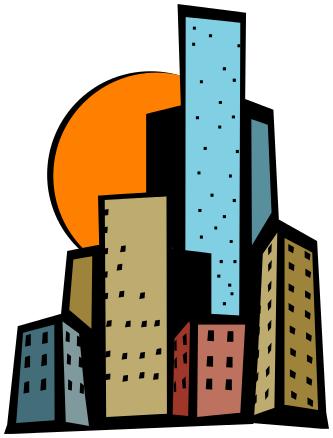 skyscraper bright clipart.