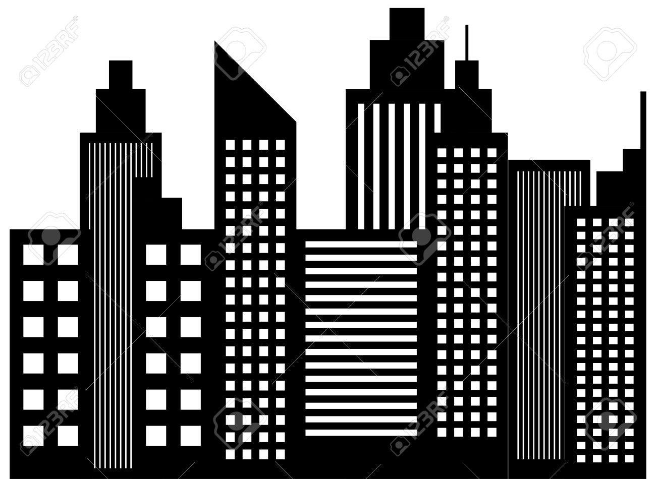 Skyscraper clipart black and white 7 » Clipart Station.