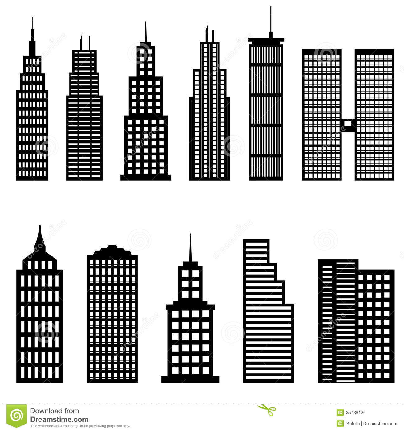 Skyscraper clipart black and white 6 » Clipart Station.