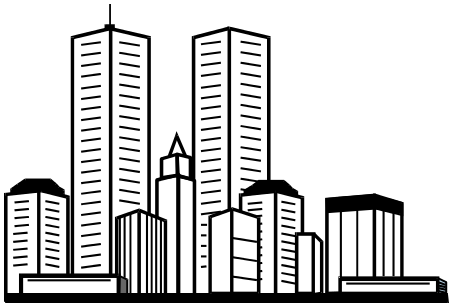 Skyscrapers clip art clipart images gallery for free.