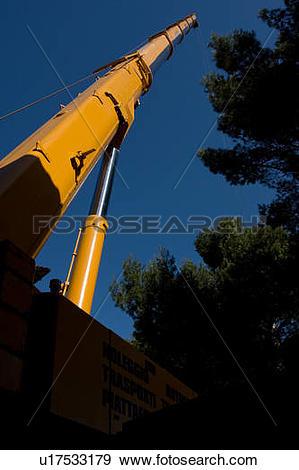 Stock Photograph of Crane tower pointing skyward u17533179.