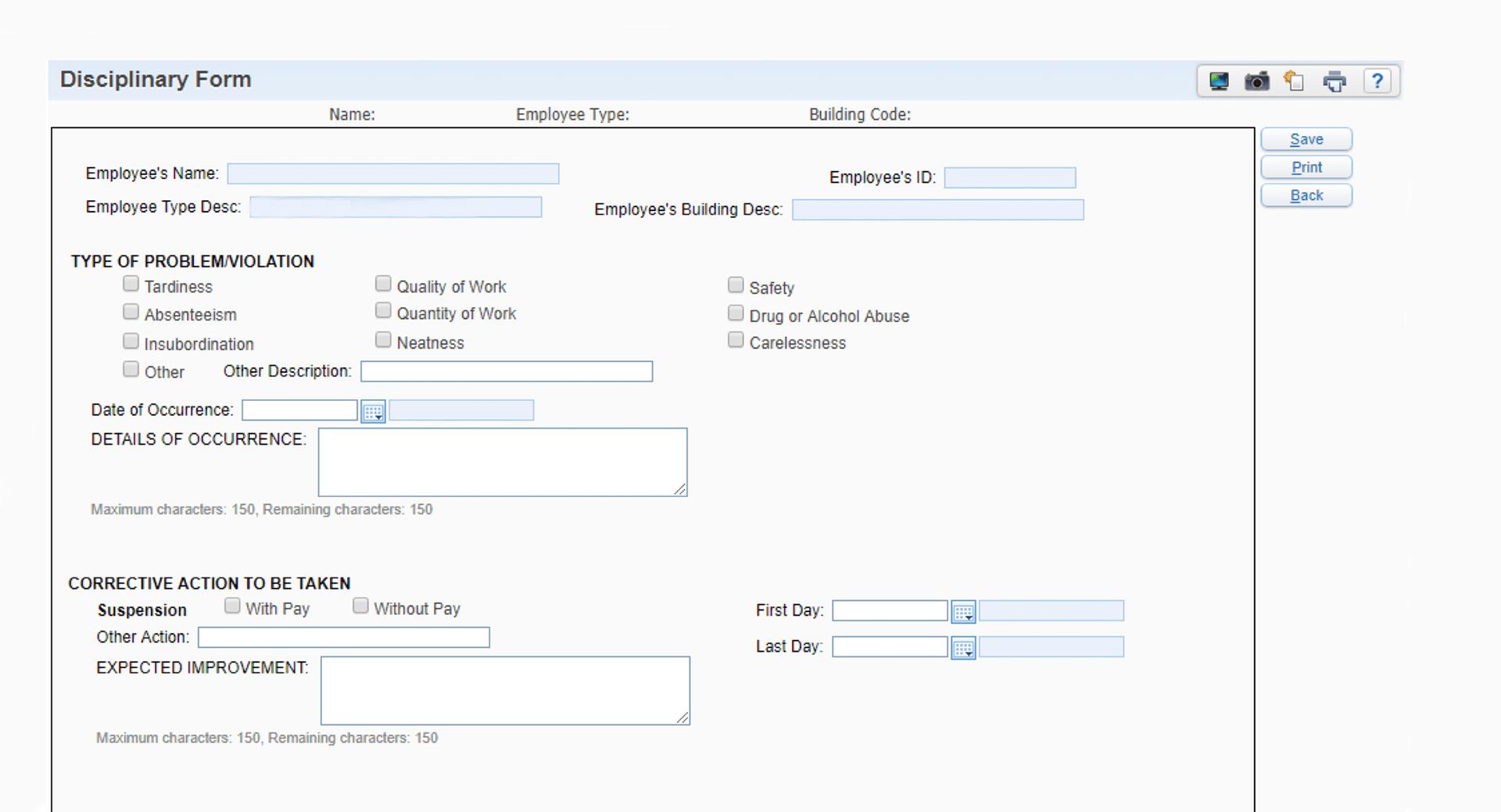 Customize Skyward for Data Tracking.