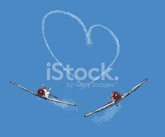 Love, Sky Writing stock vectors.