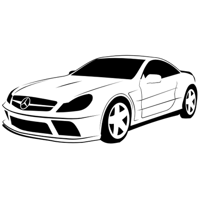 Sketchy Traced Mercedes.