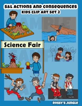 S&L SET 2 Kids clip art: Actions and consequences.