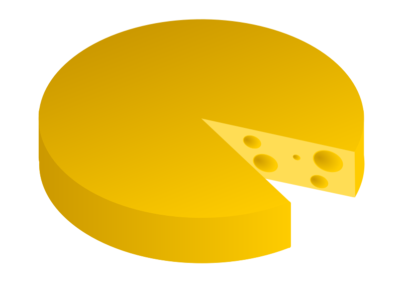 Free Slab of Cheese Clip Art.