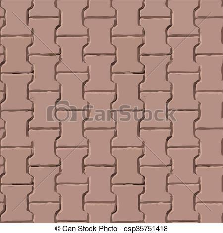 Vector Clip Art of Pavement slabs vector texture csp35751418.