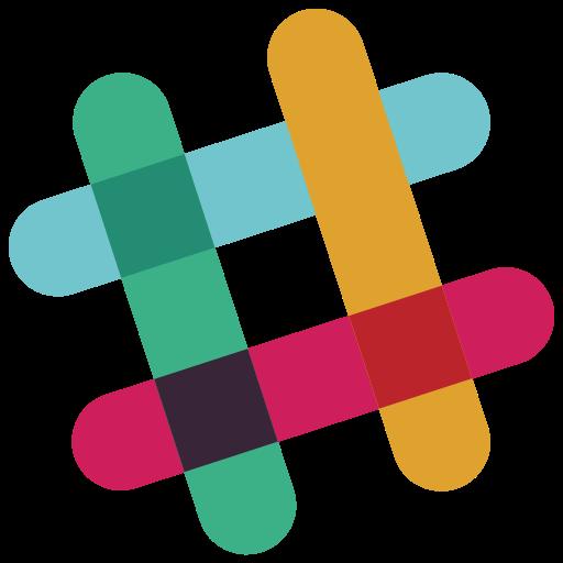 Logo, slack icon.