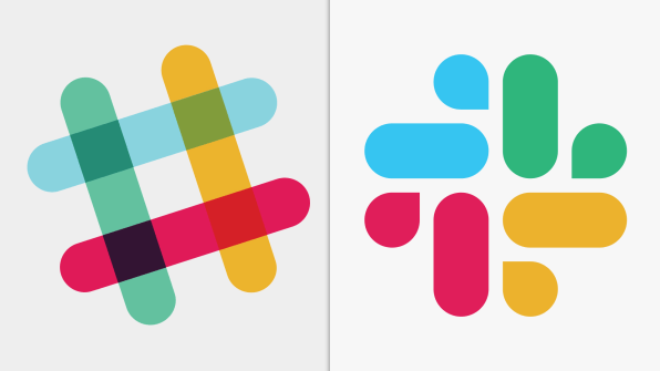 Slack\'s new logo by Pentagram ditches the hashtag and plaid.