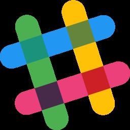 Slack Logo Icon of Flat style.