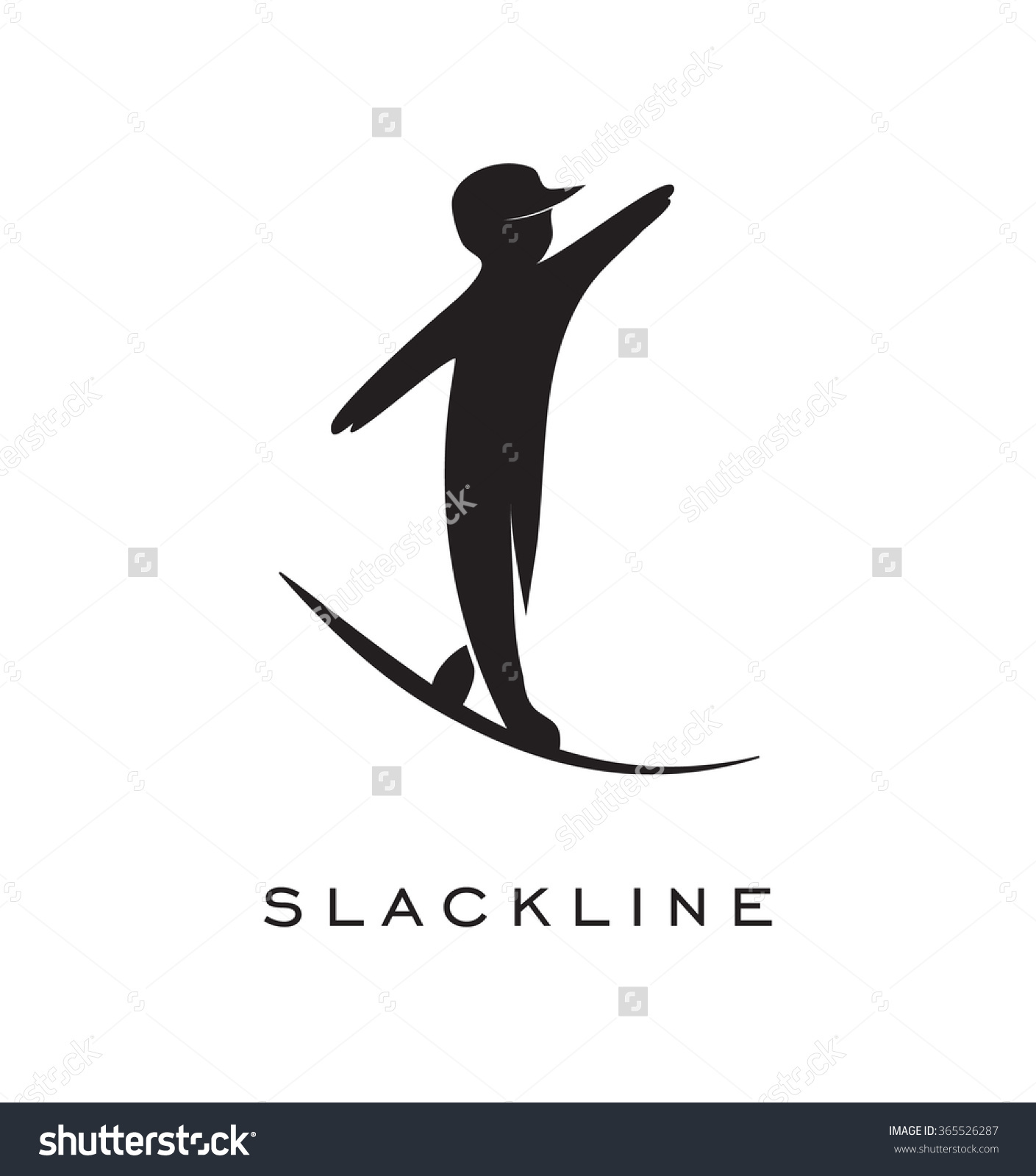 Slackline Logo Stock Vector 365526287.
