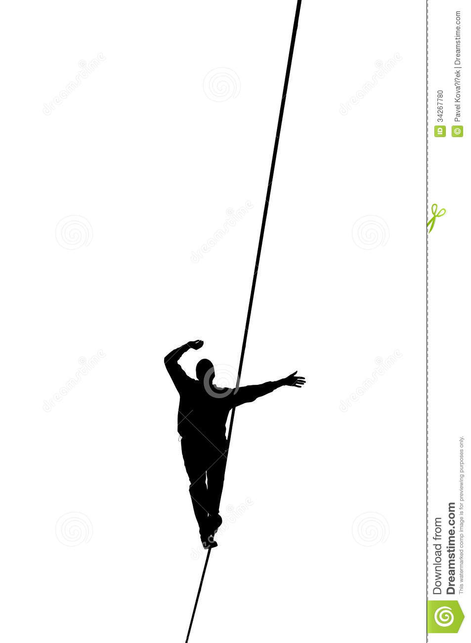Slackline Stock Photo.