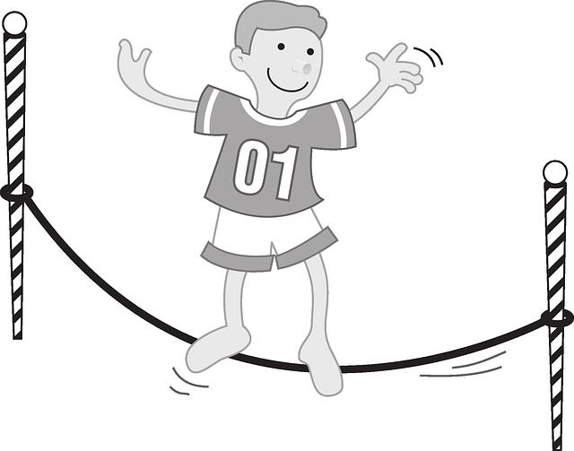 Free vector graphic: Boy, Balance, Slackline, Sport.