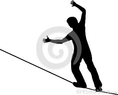 Slackline Stock Illustrations.
