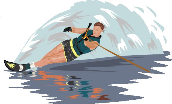 Slalom Water Skier clip art Free Vector / 4Vector.
