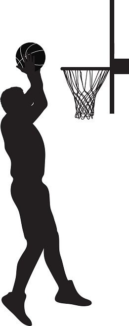 Slam dunk clipart black and white.