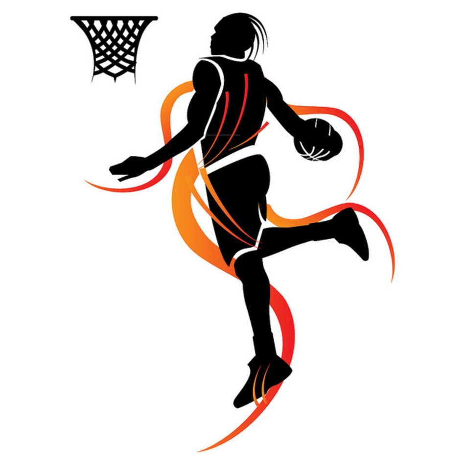 Basketball Player Slam Dunk Clip Art free image.