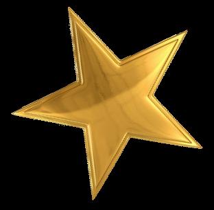 Slanted star clipart.