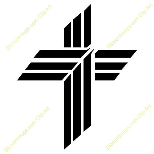 Modern slanted cross clipart.