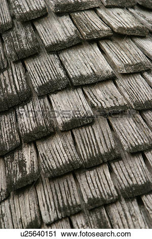 Stock Photography of Roof, Shingles, Pitched, Slant, Pattern.