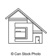 Sloping roof Clipart and Stock Illustrations. 65 Sloping roof.