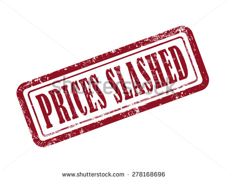 Prices Slashed Stock Photos, Royalty.