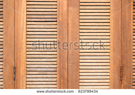 Slat Window Wood Stock Images, Royalty.