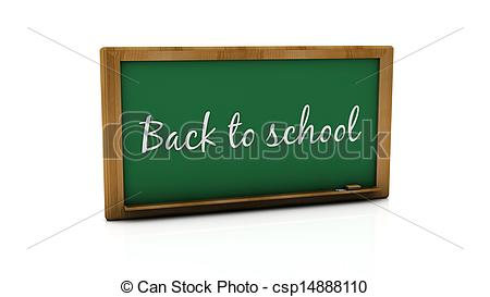 Clipart of 3d back to school slate.