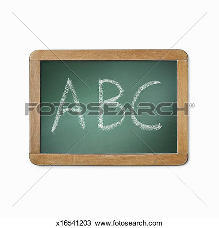 Stock Photograph of Blank used school slate board x18120679.