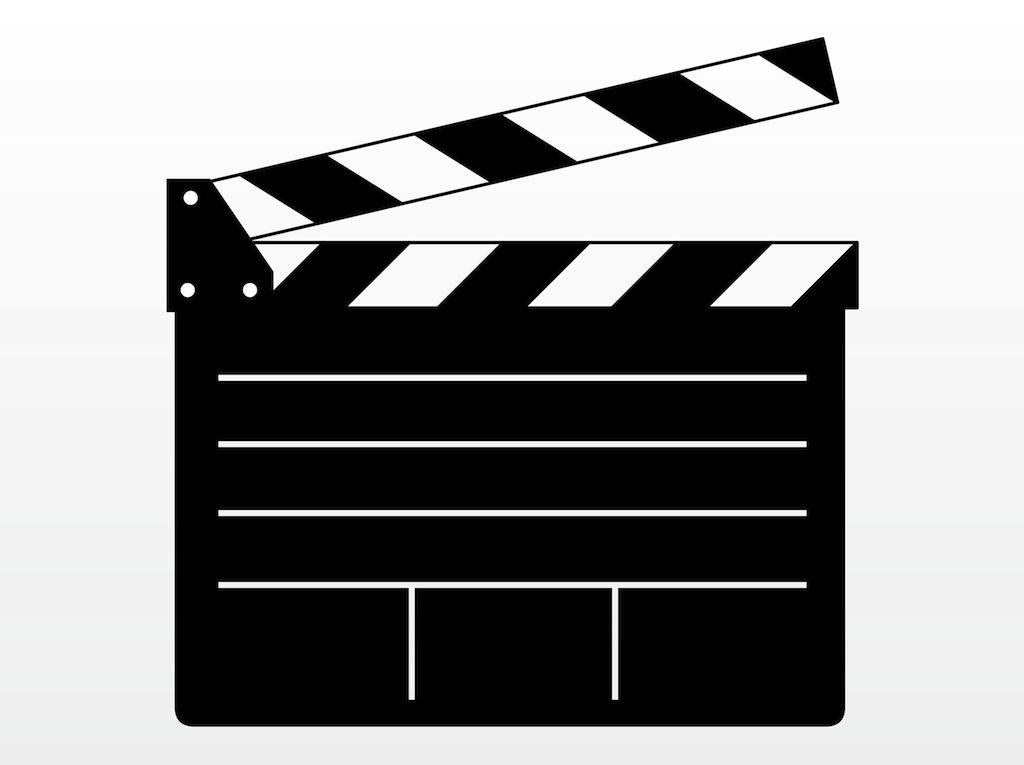 Film slate clip art.