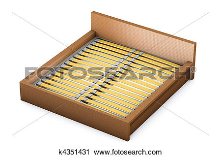 Clipart of Rattan bed and slats k4351431.