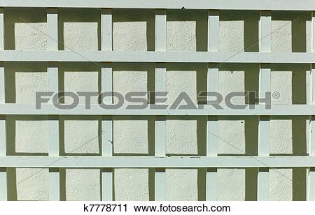 Clipart of SLATS AND SHADOWS k7778711.