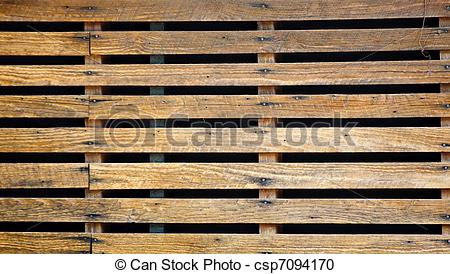 Stock Photography of Old Wood Slats Over Black.