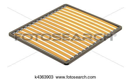 Drawing of Wood slats k4363903.