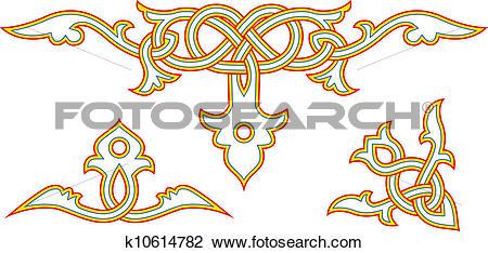 Clipart of Slavic ornament k10614782.