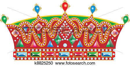 Clipart of Medieval Slavic king crown k8825250.