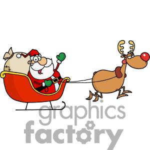 Santa sleigh clipart meme.