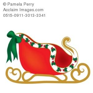 Santa's slay clipart.