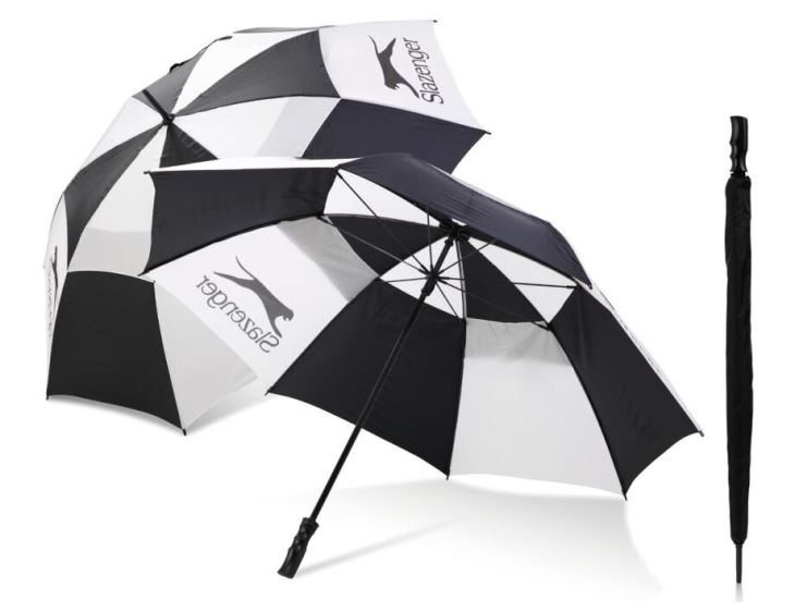 Manual Open Golf Umbrella Of Double Layer With Slazenger.