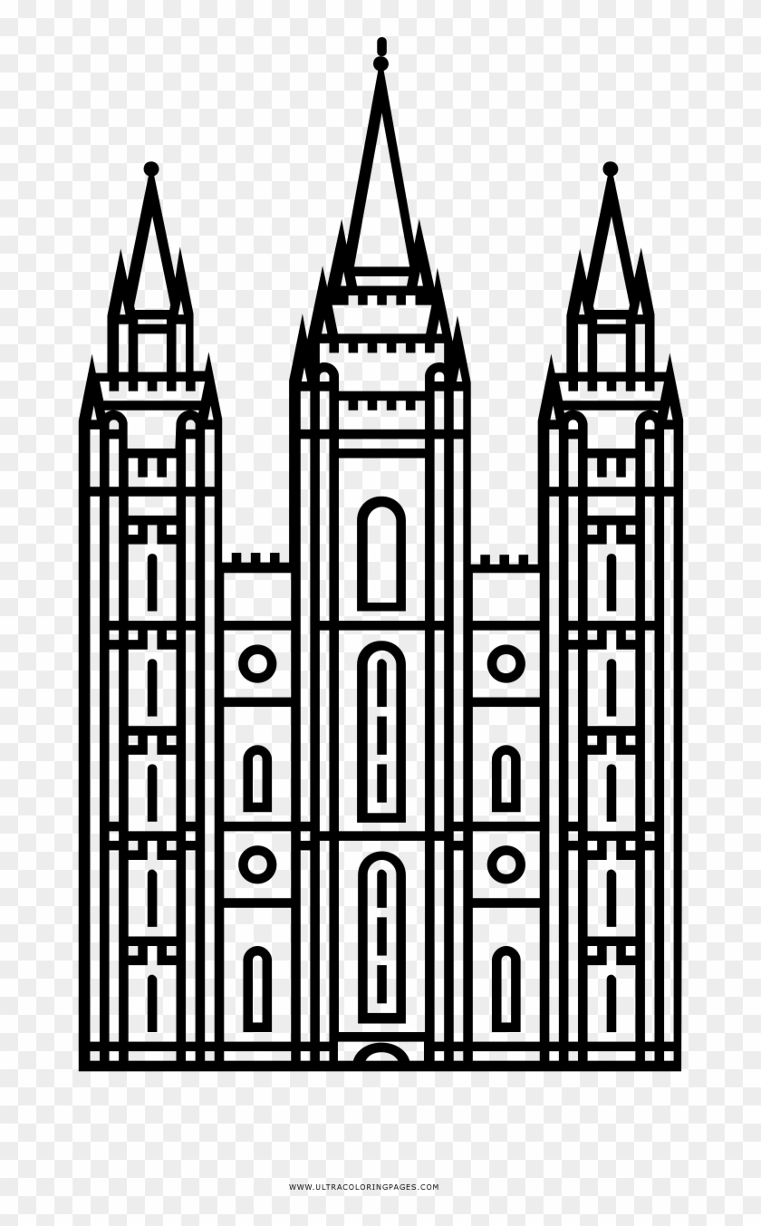 Salt Lake City Temple Png.
