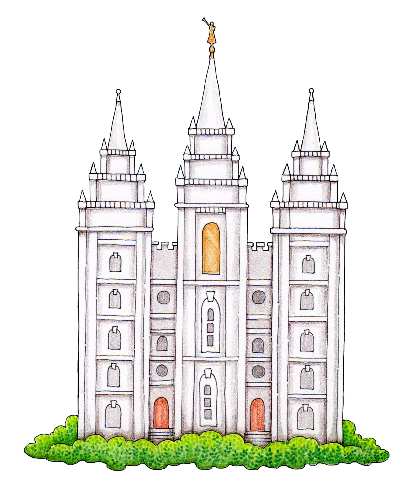 Logan Utah Temple Salt Lake Temple Latter Day Saints Temple.