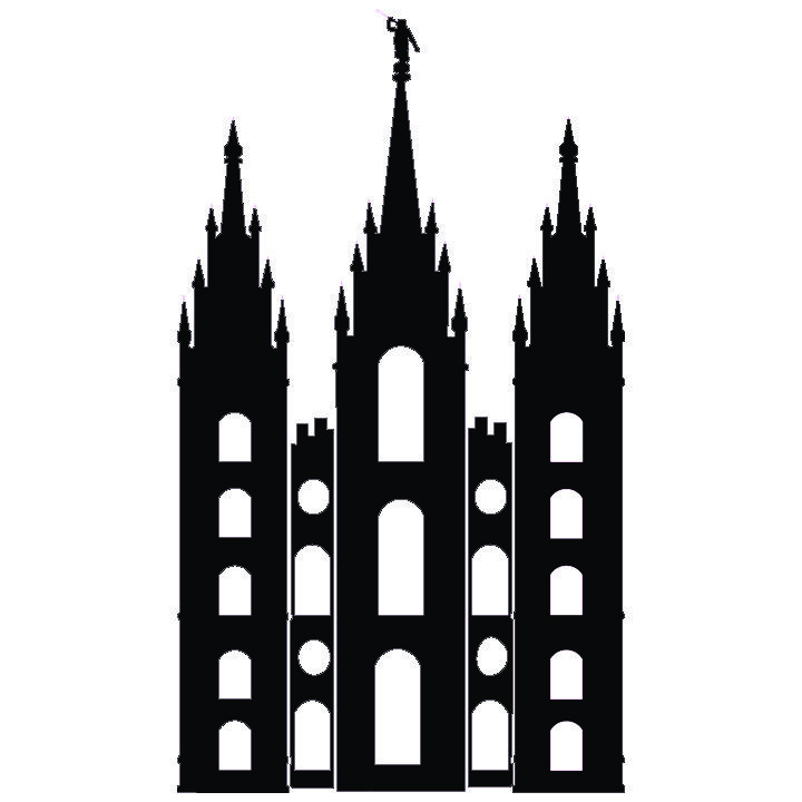 Salt Lake Temple Silhouette Simple salt lake city temple.