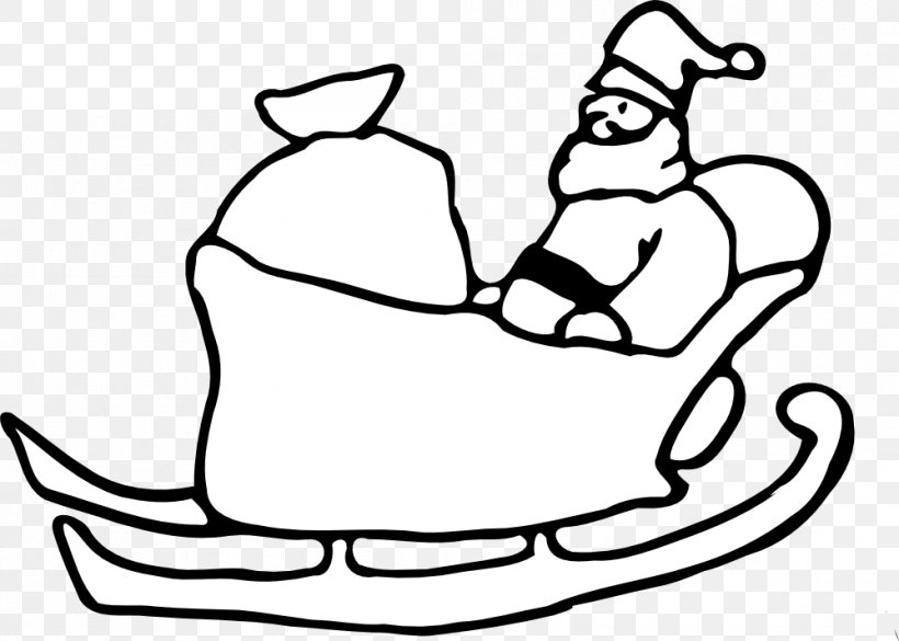 Santa Claus Rudolph Sled Christmas Clip Art, PNG, 999x713px.