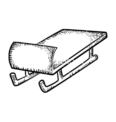 Sleigh Clipart Black And White.