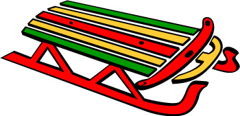 Winter Sled Clipart.